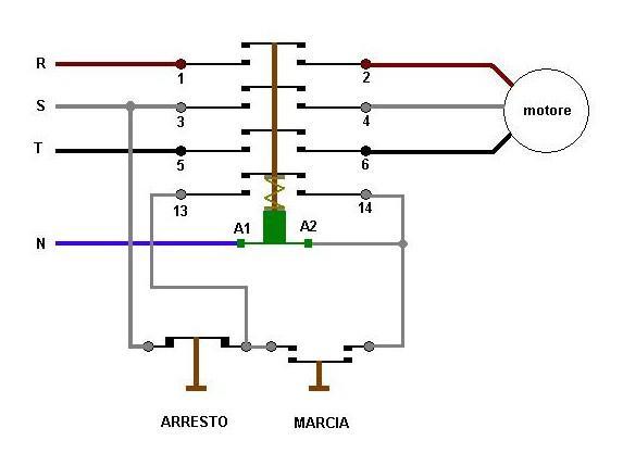 Il teleruttore for Teleruttore schema