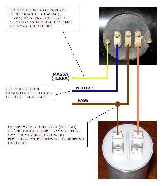 Schema Collegamento Condensatore Motore Monofase : Schema collegamento motore monofase con condensatore